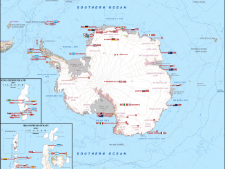 Antarctica Station Map